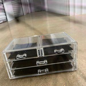 Nwot clear acrylic 4 drawer organizer